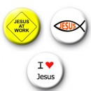 Religious Set of 3 badges
