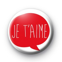 Je T'aime Love Badge