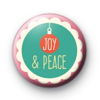Joy & Peace Christmas Badge