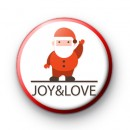 Joy and Love Santa Claus Pin Badge