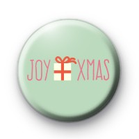 Christmas Joy Xmas Button Badge