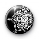 Black and White Kaleidoscope Badge