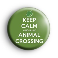 Keep Calm and Play Animal Crossing Badge