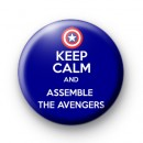 Keep Calm and Assemble the Avengers badge