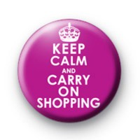 Keep Calm and Carry on Shopping Badges