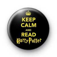 Keep Calm and Read Harry Potter badge