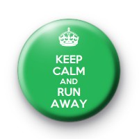 Keep Calm and Run Away badge