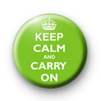 Keep calm and Carry on badge Green