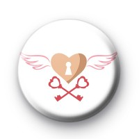 Key To My Heart Button Badge