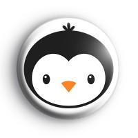 King Penguin Face Button Badge