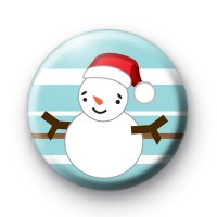 Lets Make Snowmen Button Badge