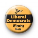 Liberal Democrats Winning Here Badge