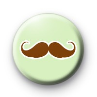 LIght Green and Brown Moustache badge