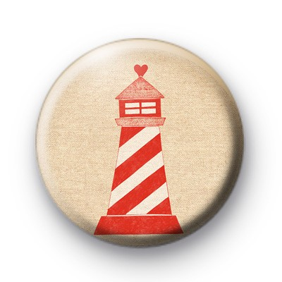 Red Lighthouse Button Badges