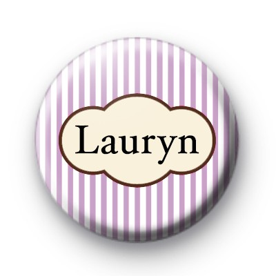 Lilac Hen Party Name Badge