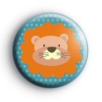King Of The Jungle Lion Badge Button Badges