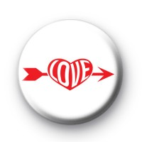 Red LOVE Arrow Pin Button Badges