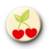 Cherry Love Heart Badges