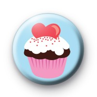 Yummy Love Heart Cupcake Badge