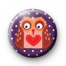 Love Heart Owl Badge