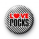 Love Rocks Heart Button Badges