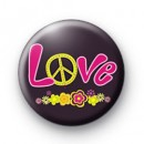 Pink Love Peace Badge