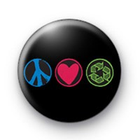 Peace Love Recycle Badge