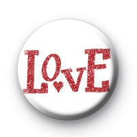 Love Red Glitter Badge