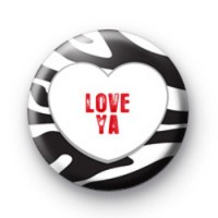 Love Ya cute Love Heart Badges
