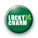 Lucky Charm Shamrock Button Badges