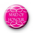 Pink Maid of Honour Swirl Badge