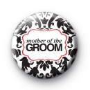 Black and Red Mother of the Groom Badges
