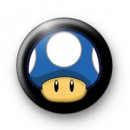 Super Mario Mushroom Blue Badge