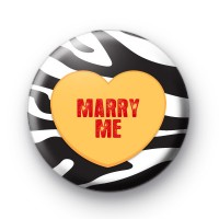 Marry Me Love Heart Badge