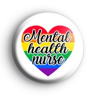 Mental Health Nurse Rainbow Heart Badge