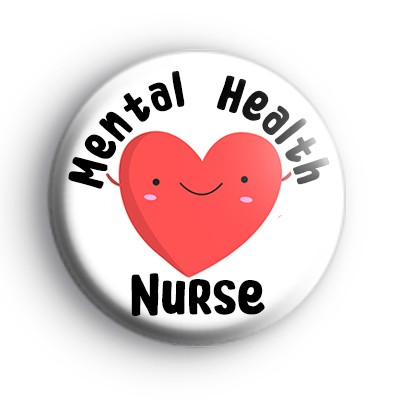 Mental Health Nurse Love Heart Badge