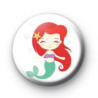 Cute Mermaid Button Badge