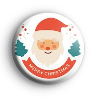 Merry Christmas Santa Claus Badge