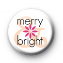 Merry & Bright Christmas Badge