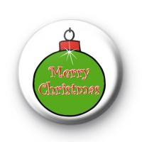 Merry Christmas Bauble Badge