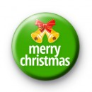 Green Merry Christmas Bells badge
