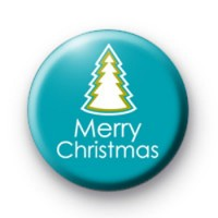 Merry Christmas Badge Blue