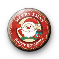Merry Christmas Happy Holidays badge
