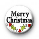 Merry Christmas Holly badges