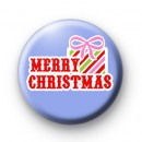 Blue Merry Christmas Present Badges