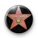 Michael Jackson Hollywood Star badge