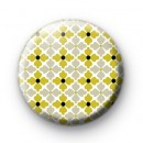 Modish Retro Floral Pattern Badge