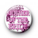 Floral Pink Mother of the Bride Badges