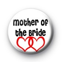 Red Love Hearts Mother Of the Bride Badges