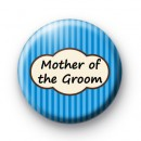 Bright Blue Stripey Mother of the Groom badge